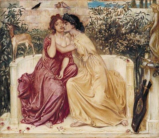 simeon_solomon_sappho_and_erinna_in_a_garden_at_mytilene_1_