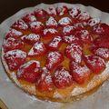 Moelleux au citron et fraises