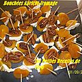Bouchées abricot-fromage