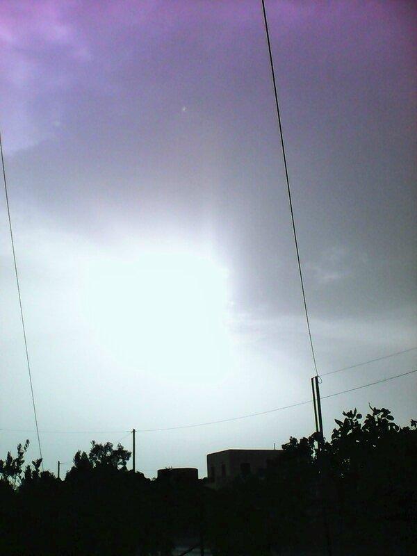 ciel avec poussieres sahara