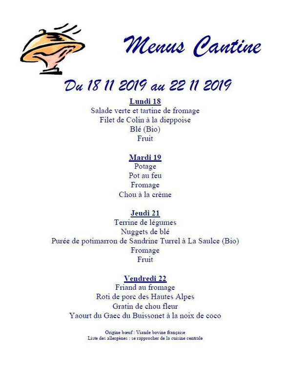 cantine 18 11 2019