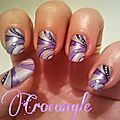 Nail art violet Crocongle