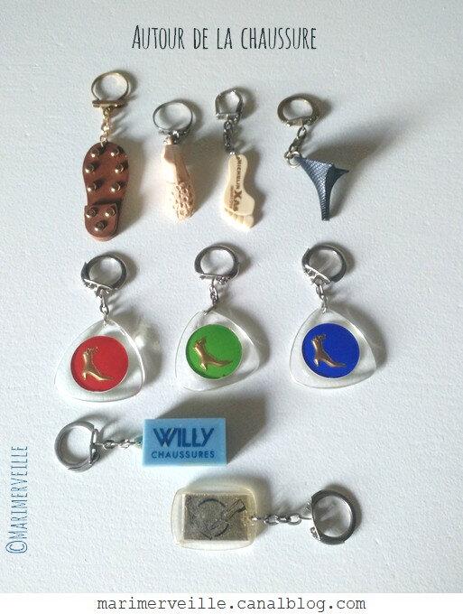 Porte-clés vintage autour de la chaussure - marimerveille