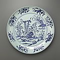 Blue-and-White Dish, early 15th century, Ming dynasty (1368 – 1644)