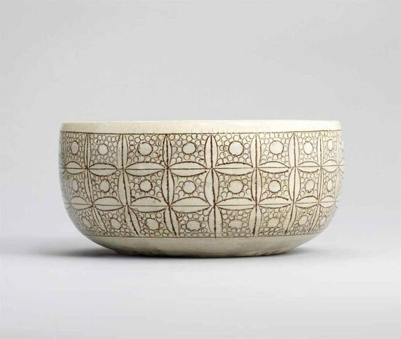 A Cizhou-type sgraffiato white-glazed bowl, Northern Song dynasty, 11th century