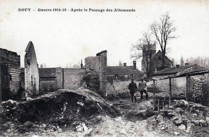 1918-09-08 -Bouy après le passage des allemands