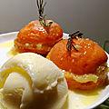 °abricots rôtis facris à la crème d'amande, au romarin°