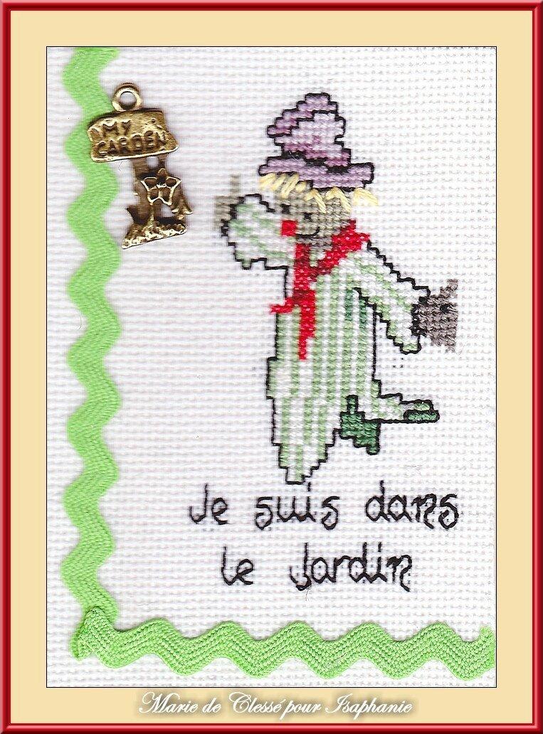 Échange ATC Perso Octobre (Épouvantails) Marie de Clessé pour Isaphanie 1