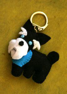 Porte-clés_chien_ Schnauzer_001