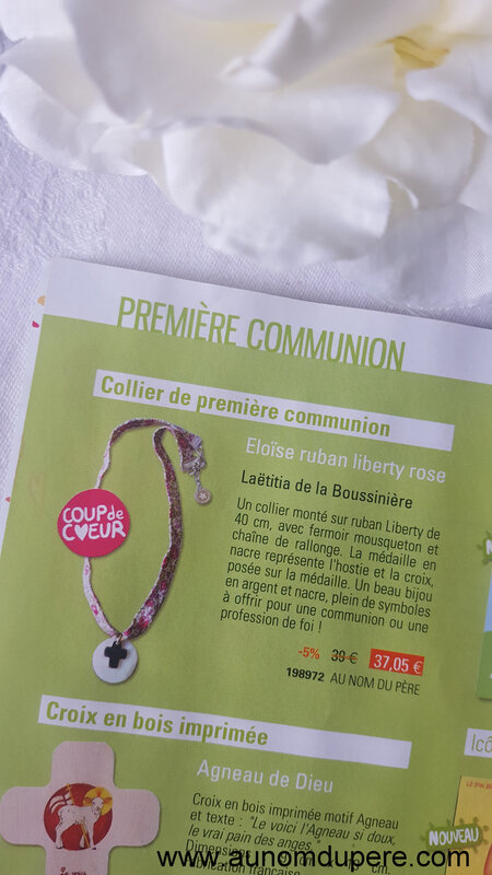 Catalogue de la Librairie de l'Emmanuel - printemps 2018 (collier de Communion)