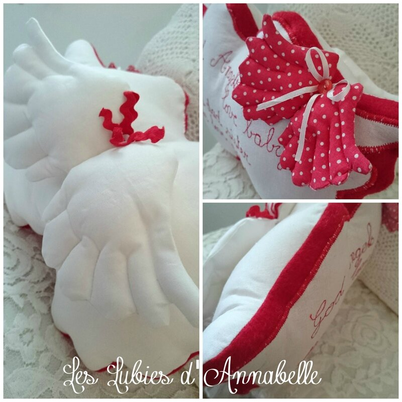 coussin ailes d'ange