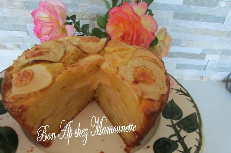 gâteau aux pommes du verger mascarponé et au jus de pomme 034