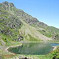 Lac d'Er, vue sud, lac et pic d'Er
