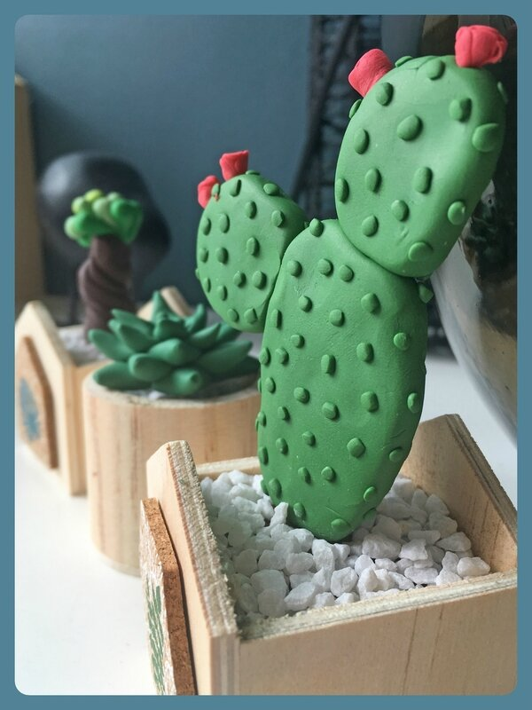 cactus fimo -2