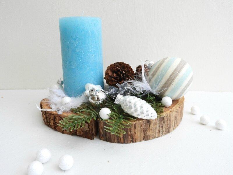 Bougeoir de Noël en bois flotté