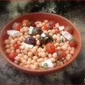 Salade de pois chiches à la mode grecque