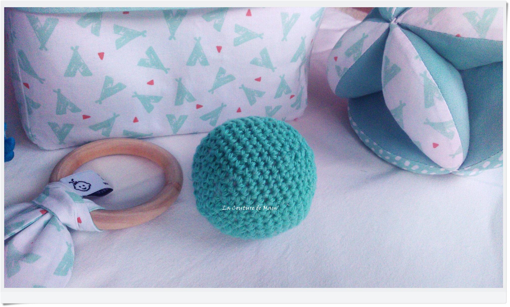Box cadeaux d'éveil vert d'eau