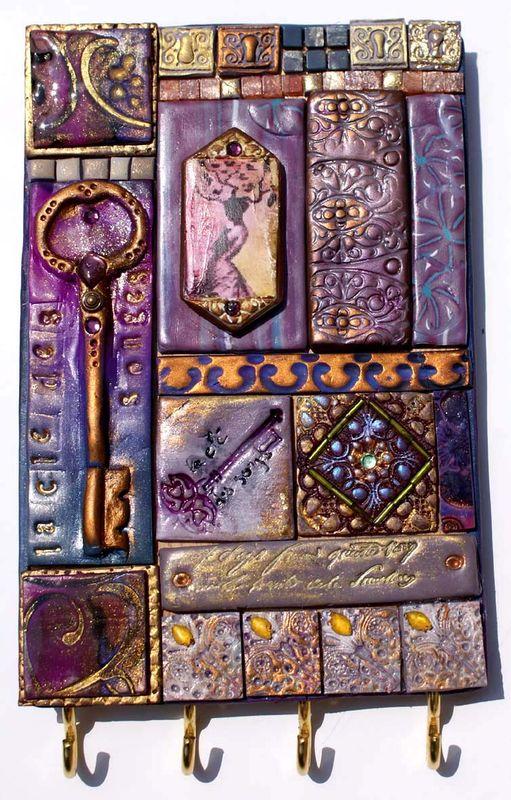 Le porte clés mauve de Marie-Agnès