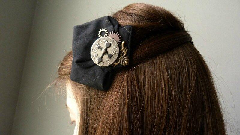 Pince Zoé noir steampunk horloge (1) [1600x1200]