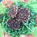 Steaks végétaux de haricots rouges - épices keufta