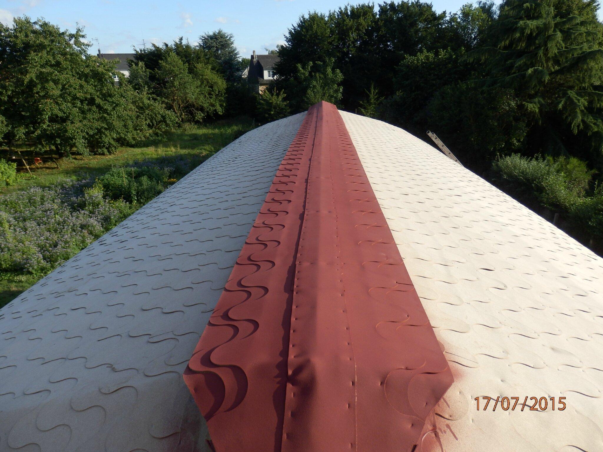 j395 : essai peinture toiture