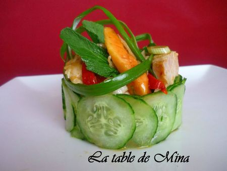 salade de poulet aigre-doux à la papaye