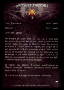 Pack de cartes - alliance_elementaire (rituel)