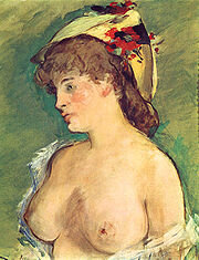180px-Manet,_Edouard_-_Blonde_Woman_with_Bare_Breasts