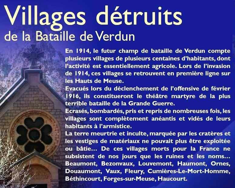 Villages détruits de la bat de Verdun