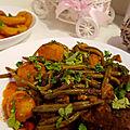 Kebda mchermla ou foie de bœuf et viande de bœuf en sauce