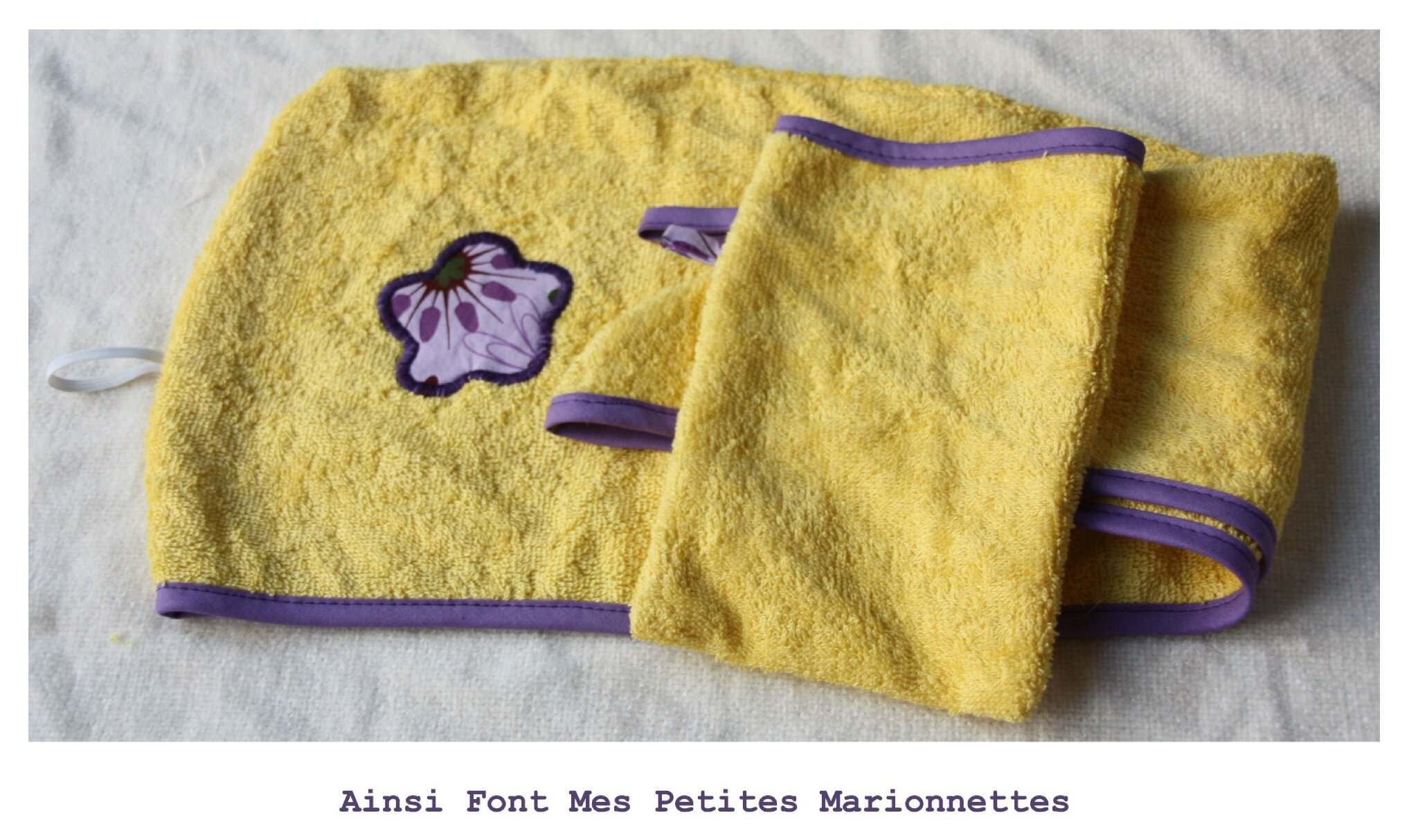 turban jaune violet