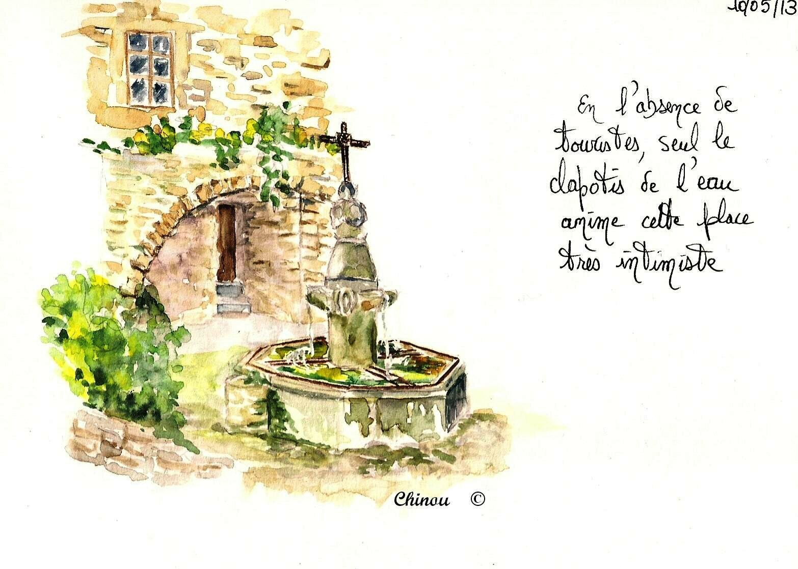Crestet : la fontaine