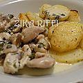 Fricassée de dinde a la crème et aux champignons /cuisine facile