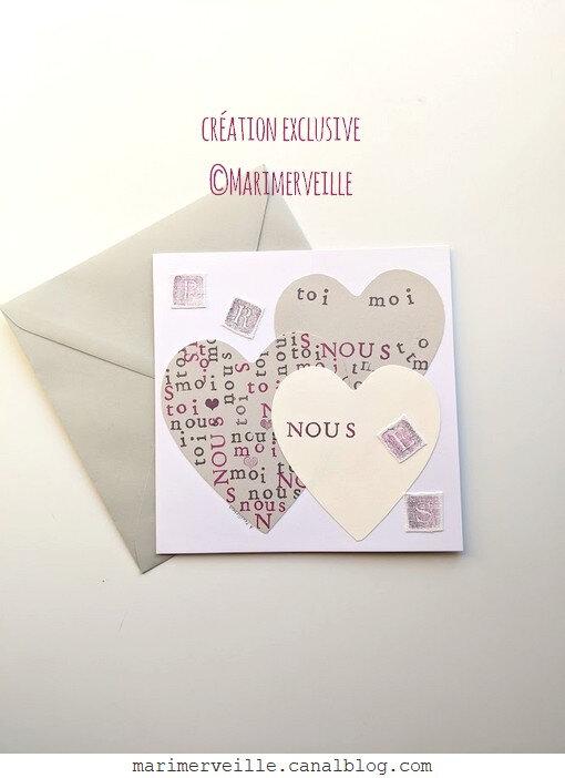 Carte St Valentin- création exclusive ©marimerveille
