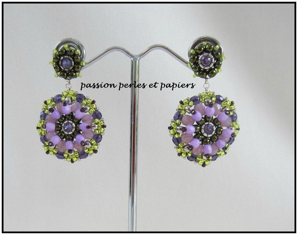 BO mandala violet et vert