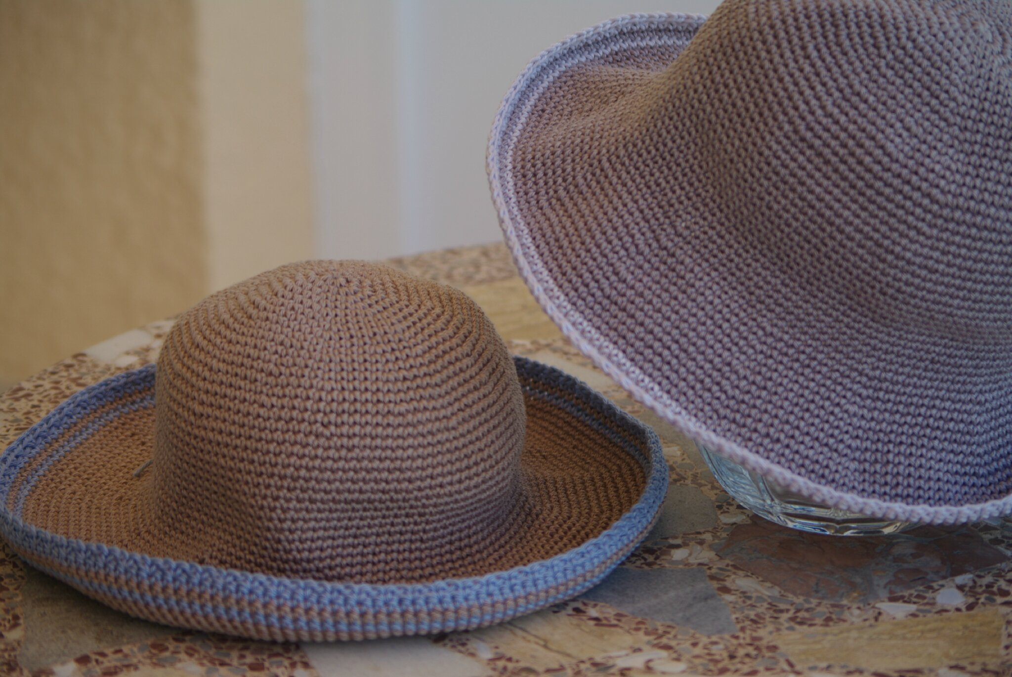 chapeau de plage enfant au crochet