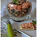 Salade de lentilles aux 2 saumons