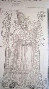 caricature du pape Jules III - XVI siècle