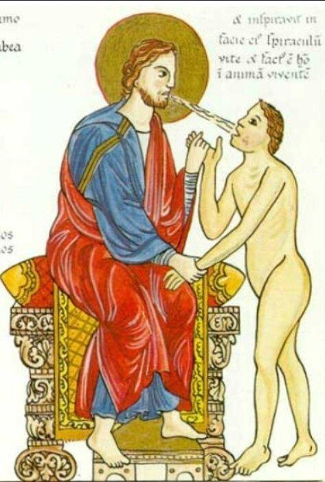 Adam, Hortus deliciarum, Mont Ste Odile, XIIe