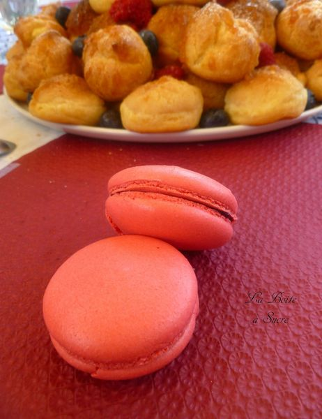 Macarons gelée fruits rouges