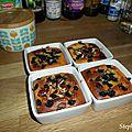 Gâteaux crémeux amandes et myrtilles/noix de pécan