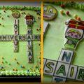 Marbré décoration lettres - mots croisés