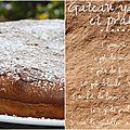 Gâteau au yaourt au pralin et nutella