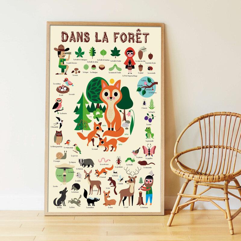Poster géant sitickers la forêt 16,90 euros