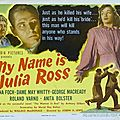 My name is julia ross. joseph h. lewis