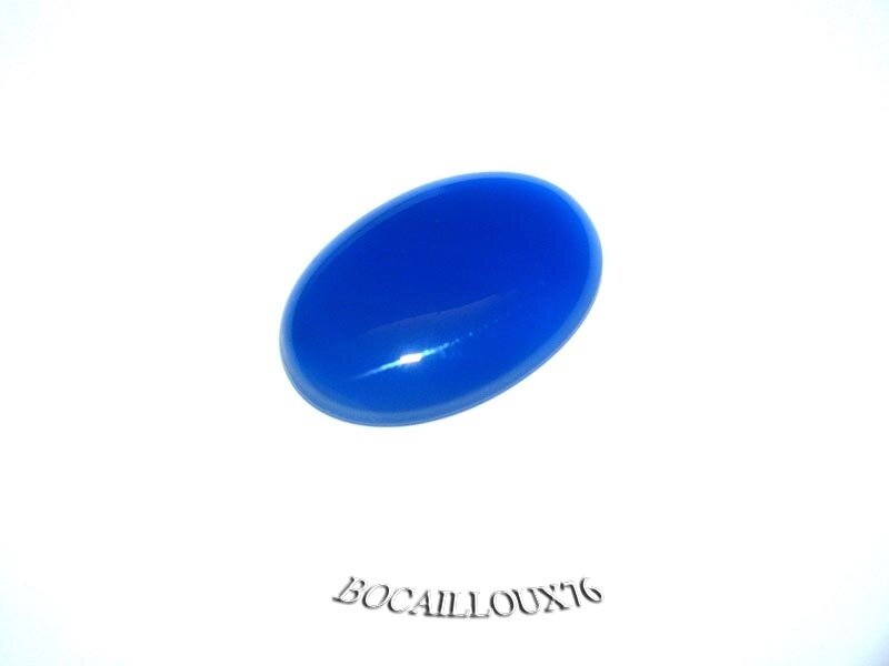 CABOCHON 18x25 AGATE BLEUE 2 - POUR CREATION
