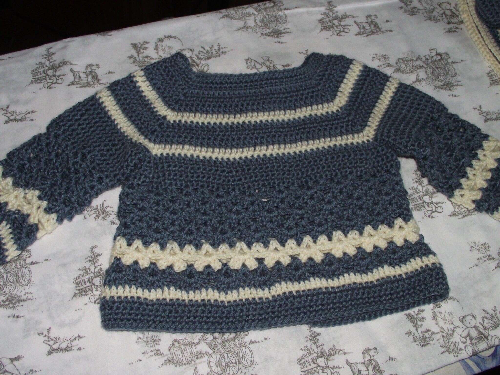 Gilet 1-3 mois Crochet laine Idéal Meije Persan 4