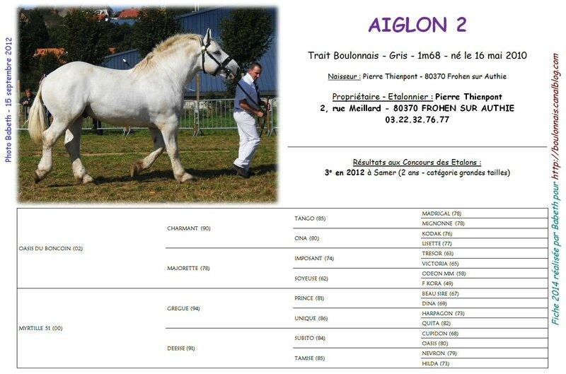 Fiche AIGLON 2 2014