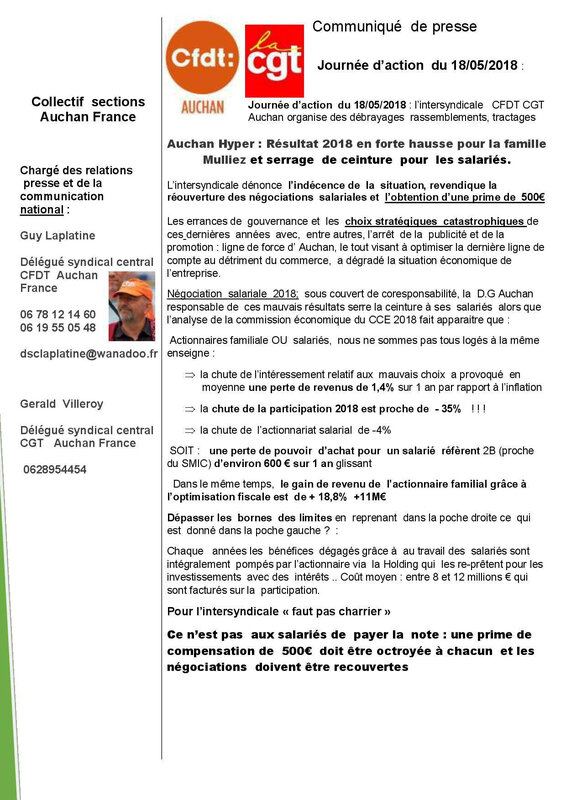 press action cfdt cgt