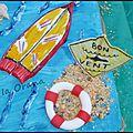 Planche de surf et bouée en pâte à sucre